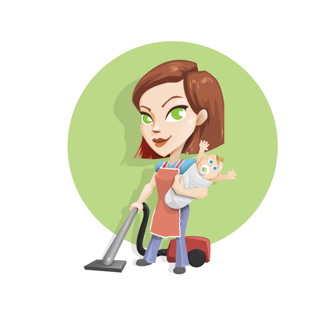 Busy_Housewife_Vector_Character